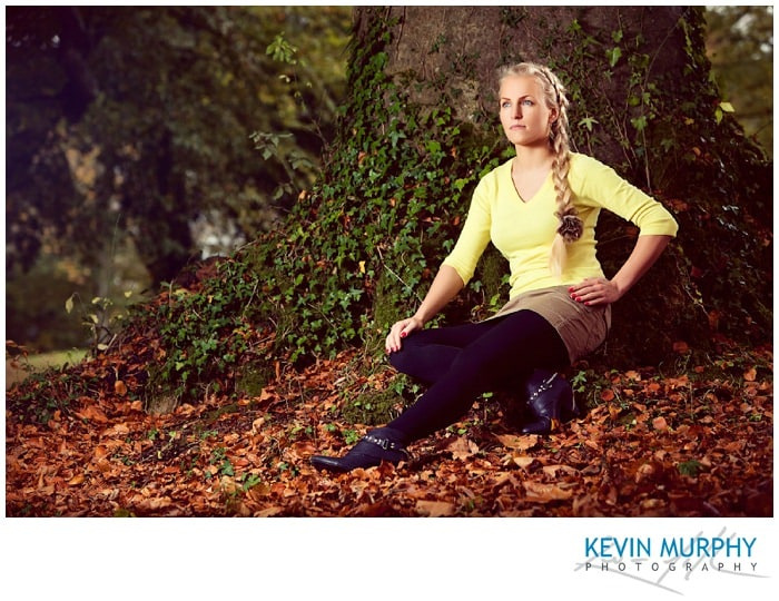 A model portfolio prtraiture photography shoot in Curraghchase, Co. Limerick.