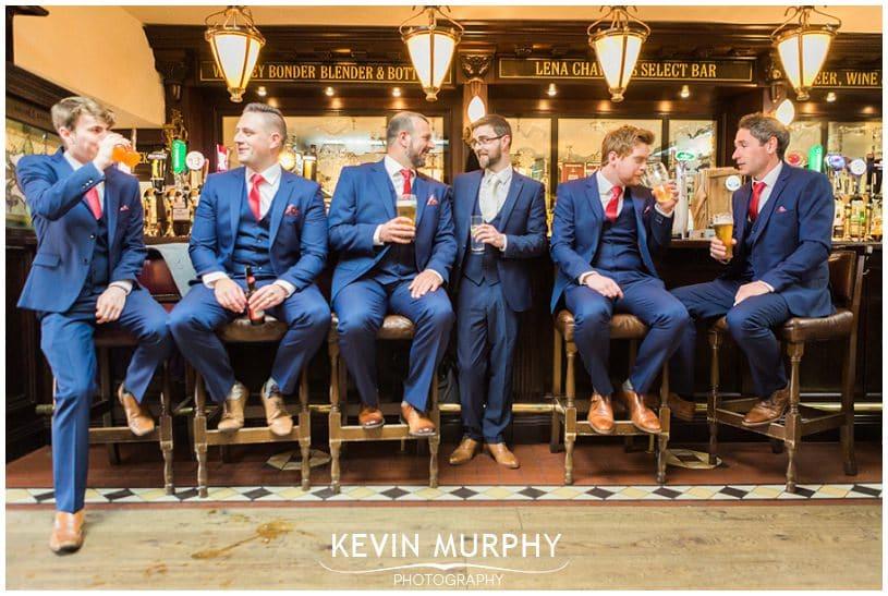 groomsmen in bar