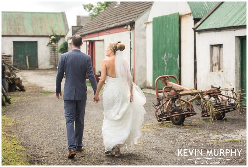 clare farmyard wedding photo