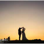 sunset ballykisteen golf course wedding photo