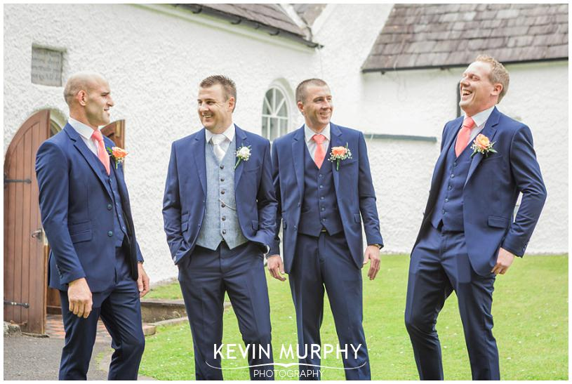 cratloe wedding groomsmen laughing