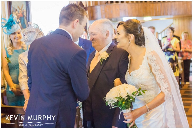 bride handover cratloe wedding