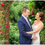 wedding in the garden of the falls hotel