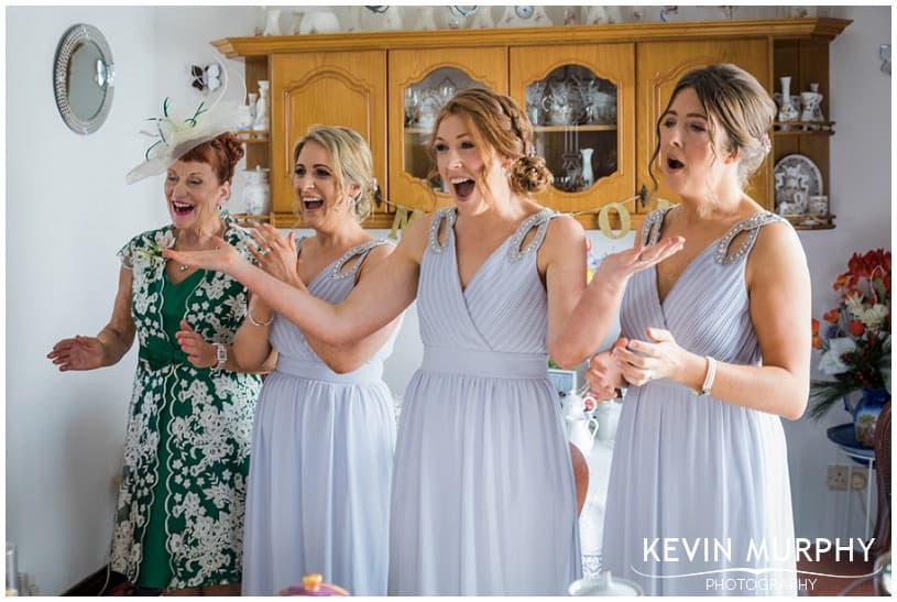 bridesmaids reaction photo