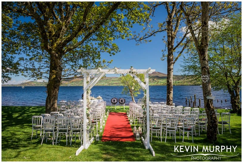 outdoor wedding on lake