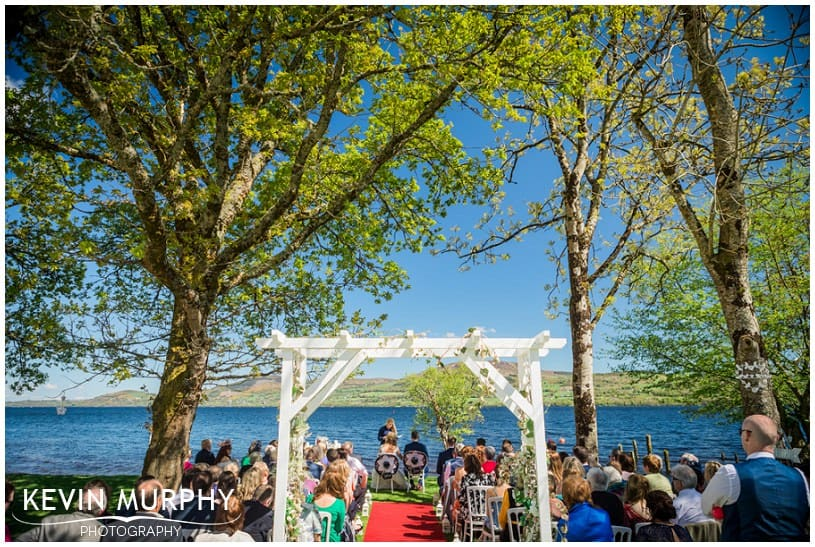 wedding on the lake at annacarriga photo