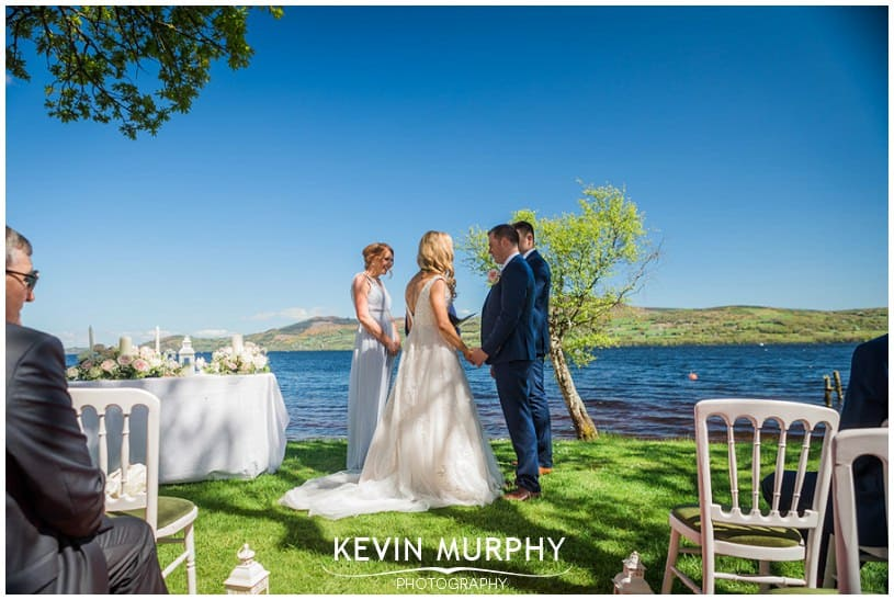 summer wedding on the lake