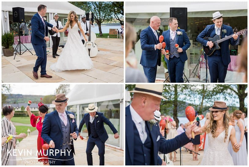 dancing with maracas at wedding photo