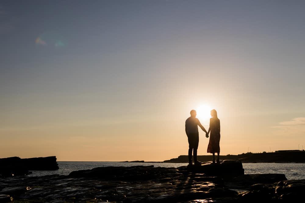 engagement shoot sunset spanish point