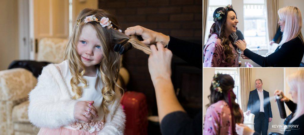 wedding day hair val o dea