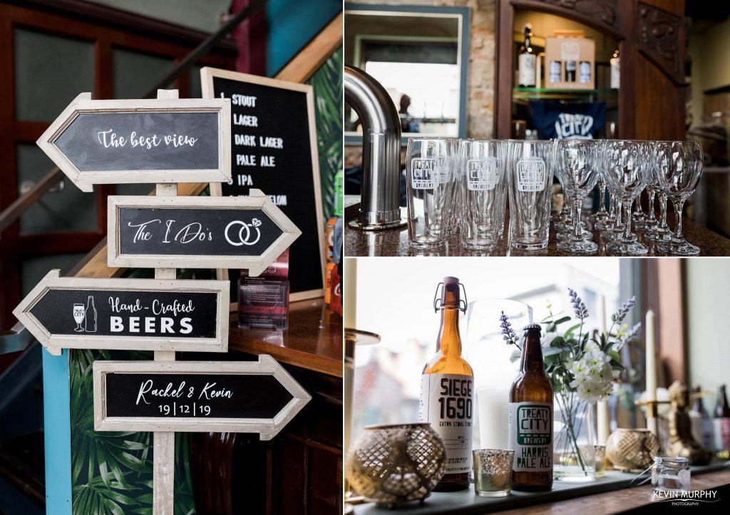 brewery wedding details