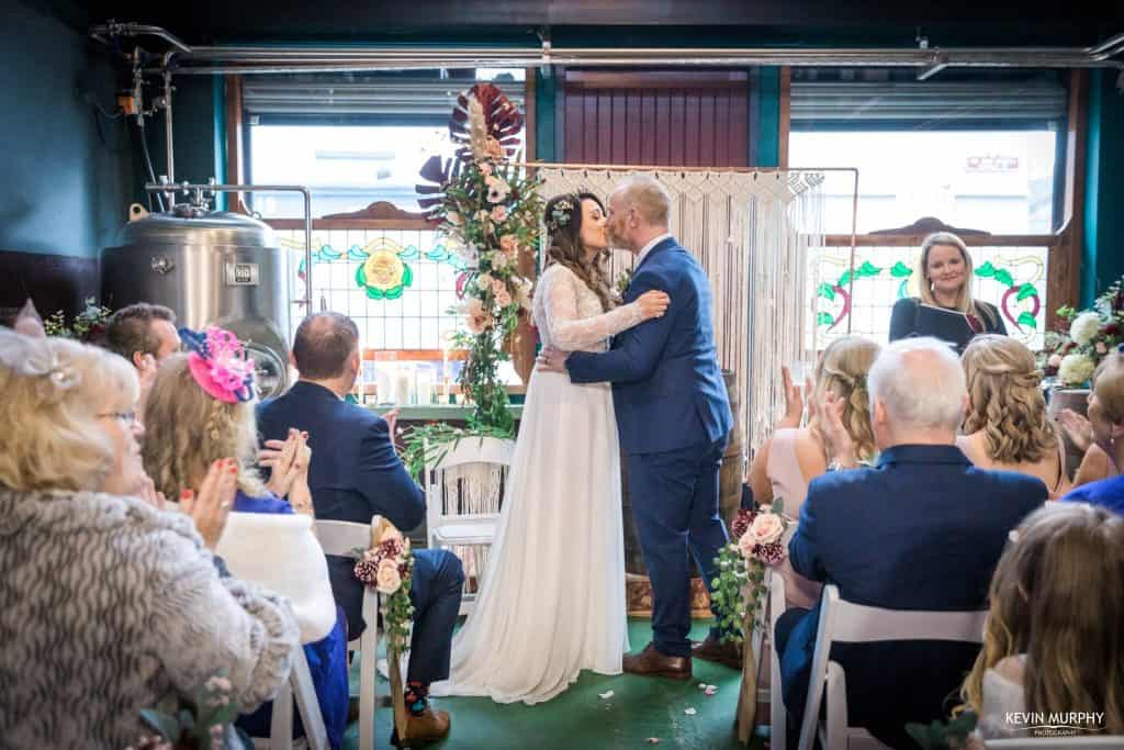 wedding ceremony in limerick brewery