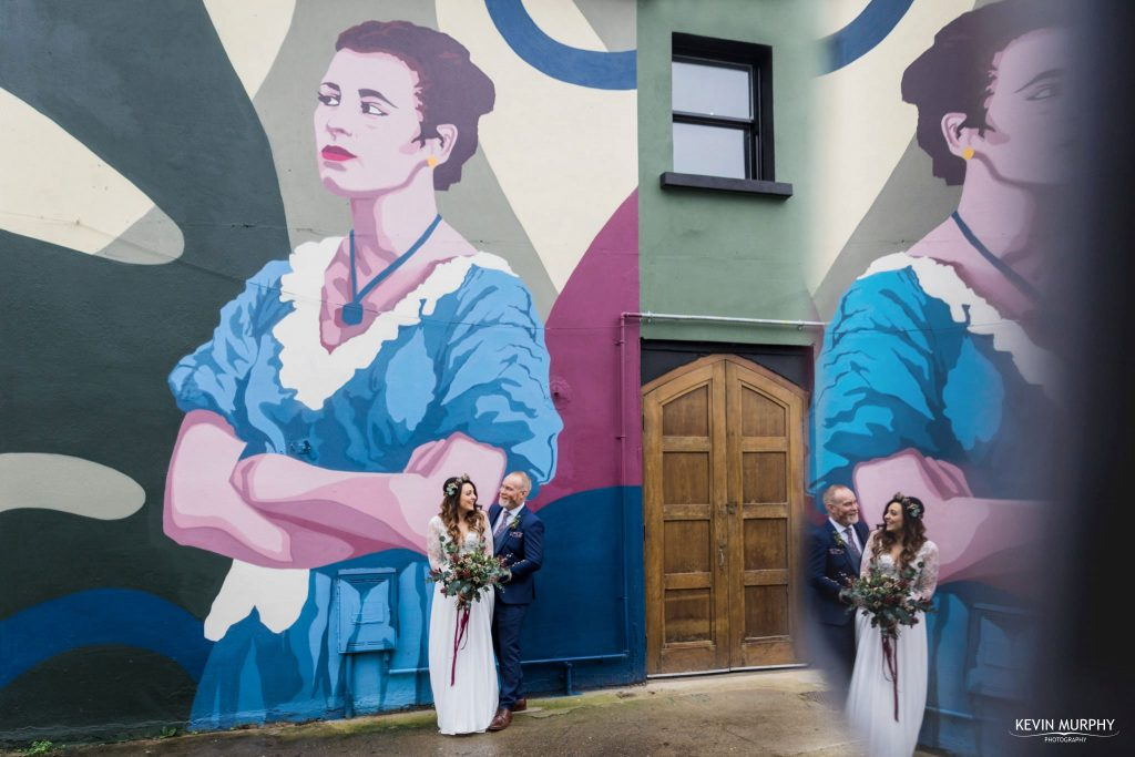 brewery mural wedding photo limerick