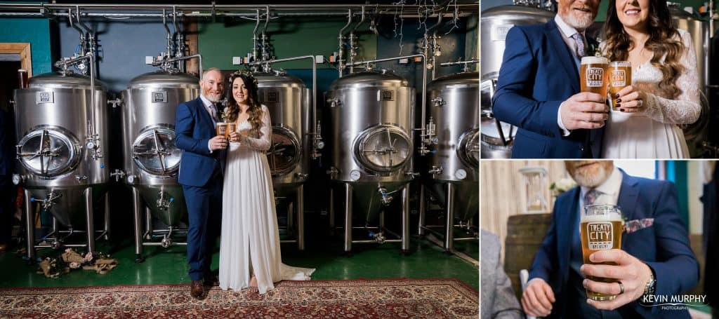 brewery wedding photo in limerick