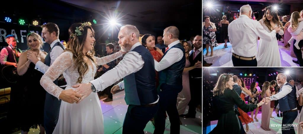 guest dancing in strand hotel wedding